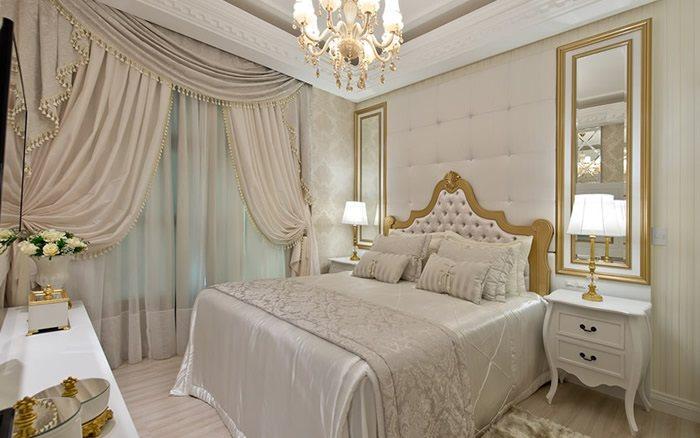 O estilo clássico em um apartamento de luxo