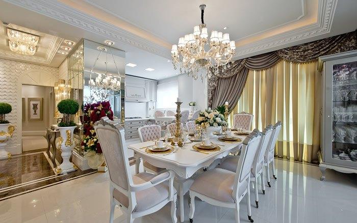 Sala de Jantar Integrada com Cozinha