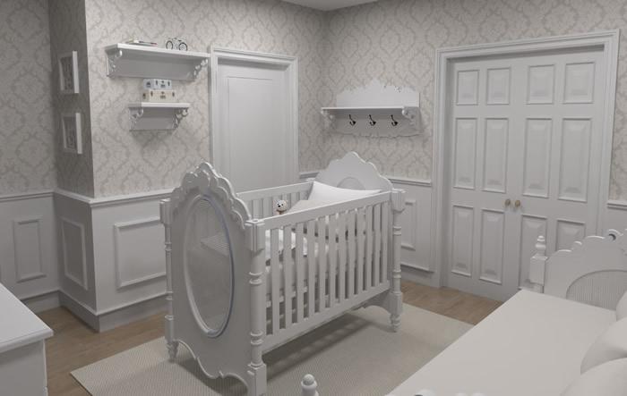 Boiserie Quarto de Bebê