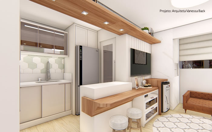 Cozinha Compacta e Elegante