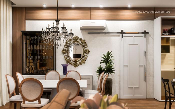 Sala, Jantar e Cozinha: espaço integrados