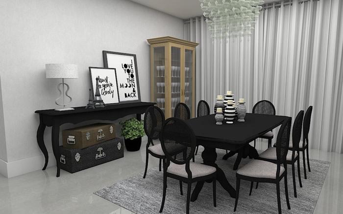 Cristaleira Sala de Jantar
