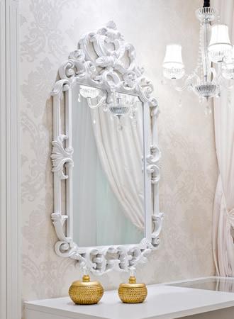 Espelho Branco Provençal