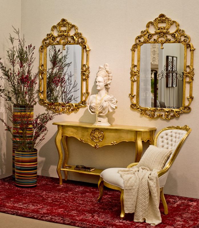 Espelho Versailles - Dourado Envelhecido