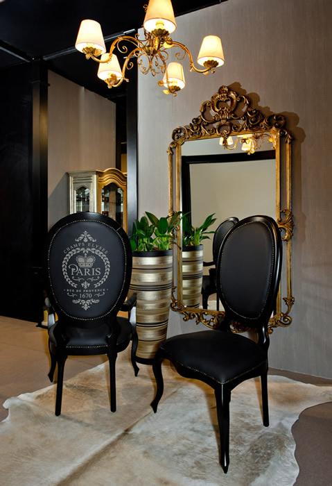 Espelho Versailles Grande Dourado Envelhecido