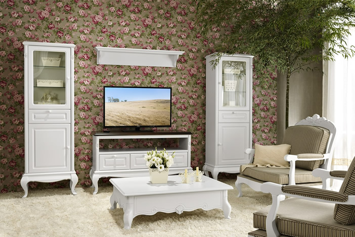 Sala Flor de Lis Estilo Europeu Provençal