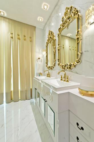 Espelho Dourado Banheiro