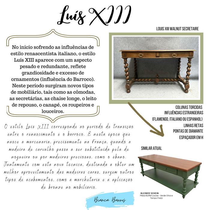 M�veis Estilo Luis XIII