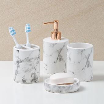 Kit Banheiro de Mármore Carrara