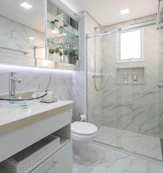 Mármore Carrara Cerâmica para banheiro