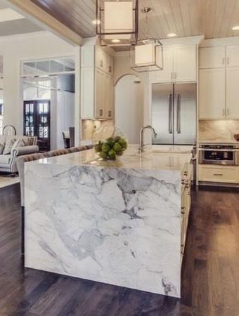 Foto Bancada Mármore Carrara Cozinha