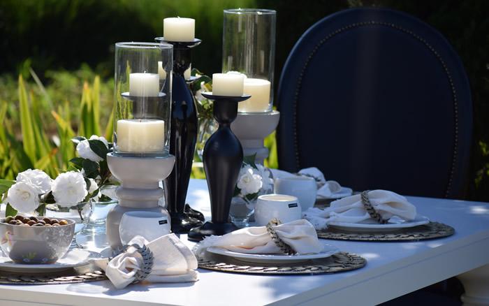 Castiçais para mesas de jantar