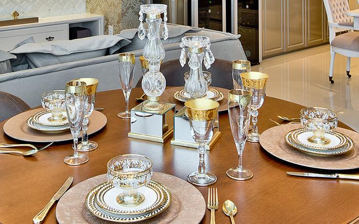 Copos e Taças para organizar mesas de jantar