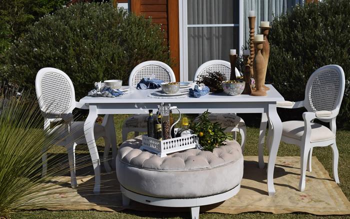 Mesa de Jantar Branca Provençal