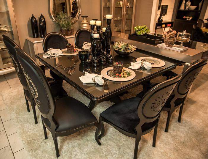 Móveis Laqueados Pretos Sala de Jantar