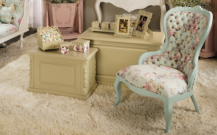 Cores Pastel e Neutras representam muito bem o estilo Lu�s XV