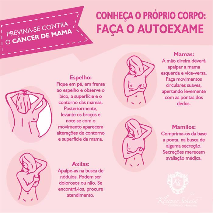 Auto Exame Outubro Rosa Câncer de Mama