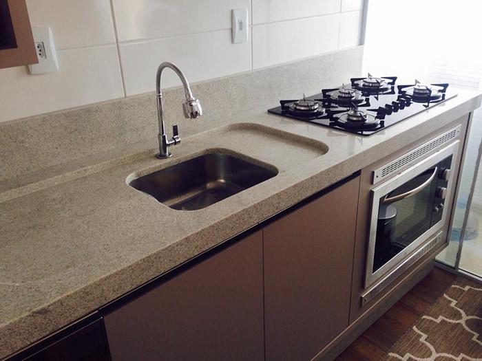 Cozinha Granito Branco Itaúnas