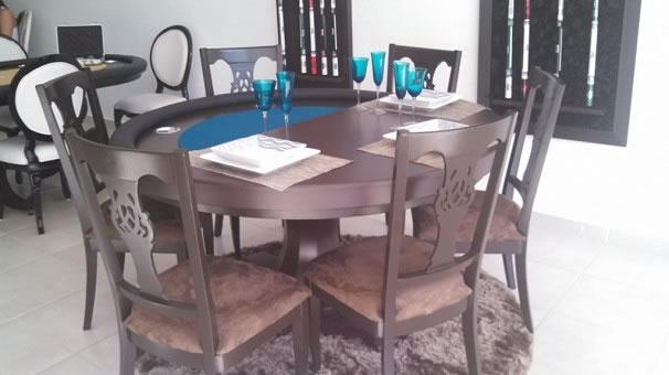 Mesa de Jantar Redonda e de Carteado/Poker