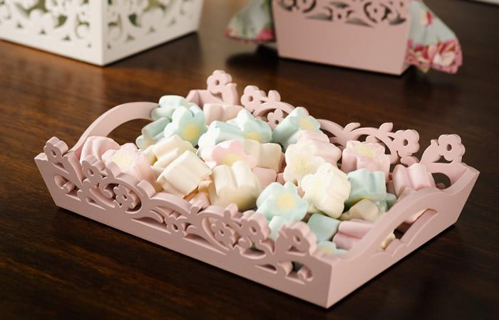 Bandeja com Marshmallows - Tons pastel